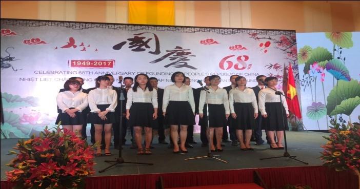 博爱集团越南片区再次受邀参加大使馆国庆68周年招待会
